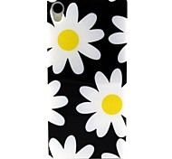 White Chrysanthemum Pattern TPU Soft Cover for Sony Xperia Z3