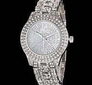 orologio quadrante diamante lega diamante del quarzo della fascia delle donne (colori assortiti)