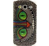 grüne Augen Eulenmuster Design haltbaren TPU Abdeckungsfall für Samsung-Galaxie-Kern 2 g3556d
