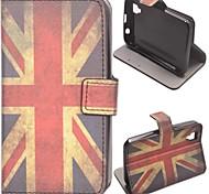 patrón de bandera británica caso de cuero de la PU con el soporte y la ranura para tarjeta para wiko atardecer