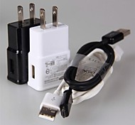 US USB Wall Charger Power Plug + Micro USB Date Cable Sync (Assorted Colors)