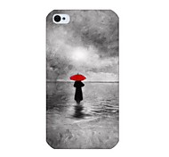 Umbrella Shadow Pattern Back Case for iPhone 4/4S