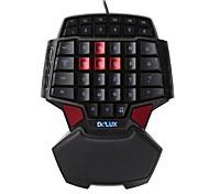 delux t9 tastiera gamepad professionale per fps sola mano