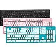K3 Ultra-Thin Mini Super Silence Wireless 2.4G Keyboard with Free Dust-proof Skin