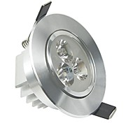 lohas® 3x1w 3-LED 300LM 6000K-6500K холодный белый свет потолочные лампы с водителем - благородного серебра кд зерна (AC 110-240V)