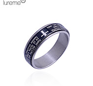 Lureme®Men's Cross Pattern Stainless Steel Ring(Assorted Size)