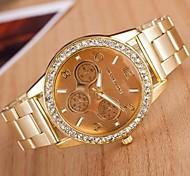 relógio de forma circular liga de quartzo das mulheres (cores sortidas)