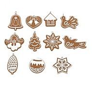 11 conjuntos de argila handmade natal pendurado ornamento