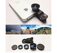 KLW 3 в 1 широкоугольный объектив / макро объектив / 180 рыбий глаз линзы / Kit Набор для iPhone 5/6 / IPad и других