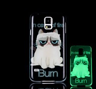 Cat Pattern Glow in the Dark Hard Case for Samsung Galaxy S5 I9600