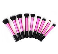 9pcs Super Soft Dense Make Up Brush Amazing Complete Kit for Makeup