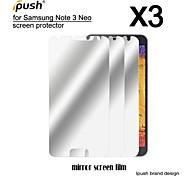 alta transparencia protector de la pantalla LCD del espejo con un paño de limpieza para Samsung Galaxy Nota 3 neo (3 piezas)