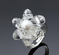 Ladies'/Women's Alloy Ring Crystal/Imitation Pearl Alloy
