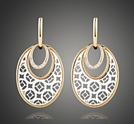 Fashion Oval Alloy White Earring(More Color available) (1 pair)