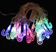 j forma 5m 4.8W natal flash de 20 levou-strip luz rgb lâmpada (plug eu, ac 110-220V)