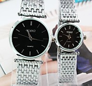 Couple's Round Dial Steel Band Quartz Fashion Watch (Assorted Colors) Cool Watches Unique Watches