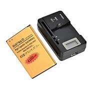 """4200mah sustitución de la batería de ion-litio con 0,8 cargador """"batería lcd para Samsung Galaxy Note 3 / N9000 / n9005"""