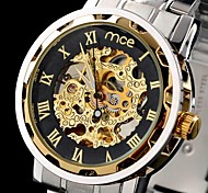 MCE Men's Watch Auto-Mechanical Watch Gold Hollow Engraving