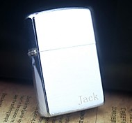 Personalized Engrave Silver Metal Oil Lighter