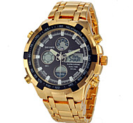 Men's Multifunctional Analog-Digital LED Chronograph Calendar Full Steel Band Wrist Watch (Assorted Colors) Cool Watch Unique Watch Fashion Watch