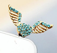 1Pcs Fashion Love Angel Wings 3.5mm Anti-dust Plug for iPhone 6 and Others(Random Colors)