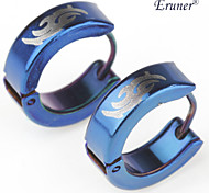 Eruner®Men's Titanium Steel Totem Earring (Blue)