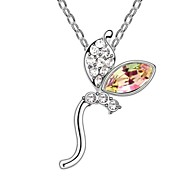 Dancing Spirit Xmas Gift Short Necklace Plated with 18K True Platinum Crystal Golden Shadow Austrian Crystal Rhinestone