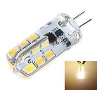 Bombillas LED de Mazorca T G4 3W 24 SMD 2835 200 LM Blanco Cálido DC 12 V