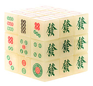 DIANSHENG 3x3x3 Night Luminous Mahjong Puzzle Magic Cube