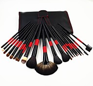 22pc Professional Natural Animal Hair Luxry Makeup Brushes Set Cosmetic Powder Blush Eye Kit With Bag