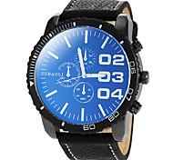 Men's Round Dial PU Band Quartz Wrist Watch (Assorted Colors)