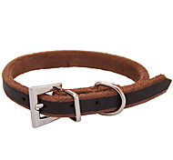 Cody Durable Cow Leather Collar for Pets Dogs