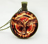 European Fashion Classic Copper Time Gem Necklace The Hunger Games Mockingjay 02