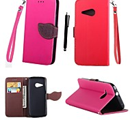 KARZEA™ Leaf Mixed Colors TPU Leather Full Body With Stand and Stylus for HTC M8mini(HTC One Mini 2) (Assorted Colors)