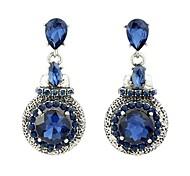 2015 Wholesale Cheap Gemstone Long Women Drop Earrings