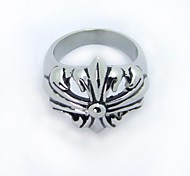 Stainless Steel Punk Style Lily Metal Rings