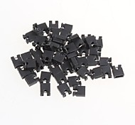 Pitch 2.54mm Jumper Shorted Shorted Cap Pin Connector Block Cap(50Pcs)