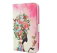 Singing Birds and Fragrant Flowers PU Case with Stand and Rhinestone for Samsung Tab 4 T230