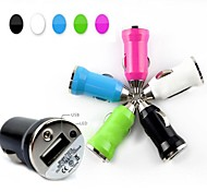 Universal Car Vehicle Power Dual 1 Port USB  Car Charger Adapter for iPhone iPad and Others(Assorted Color)