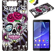 For Sony Case / Xperia Z3 Pattern Case Back Cover Case Skull Hard PC Sony Sony Xperia Z3 / Sony Xperia Z3 Compact / Sony Xperia Z2 / Other