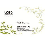 Personalized Business Cards 200 PCS Classic White And Green Pattern 2 Sided Printing of Fine Art Filmed Paper