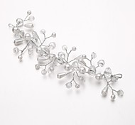 Women's/Flower Girl's Alloy/Imitation Pearl/Cubic Zirconia Headpiece - Wedding/Special Occasion Flowers