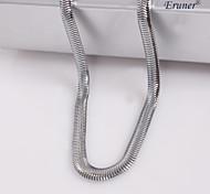 eruner®unisex 4mm plana cadena de serpiente collar de cadena de plata no.72