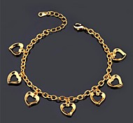 u7® любовь очарование Braclet 18k реальное золото платина покрытием романтической любви браслет ювелирные изделия