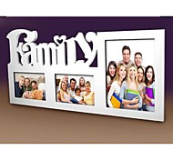 Personalized Framed Photo 8 And 2x6 Inches In One Family Design White Wooden Frame 3 Photos