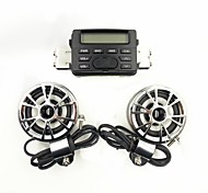 Sistema de Rádio da motocicleta Sound Audio Guiador FM MP3 Stereo 2 Speakers ATV bicicleta