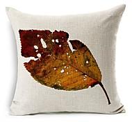 умирает лист хлопок / лен декоративная подушка крышка