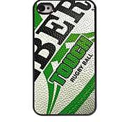 Rugby Design Aluminum Hard Case for iPhone 4/4S