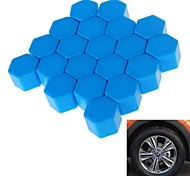 19# Hexagonal Nut Silicon Material Design Car Wheel Hub Screw Decoration Cover  (20PCS)