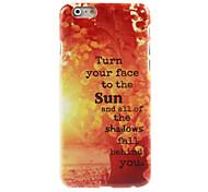 caso duro del diseño del sol para el iphone 6